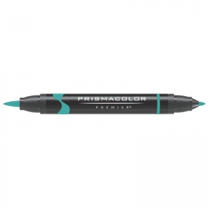 Prismacolor® Premier Brush Marker Parrot Green Light; Color: Green; Double-Ended: Yes; Ink Type: Alcohol-Based, Dye-Based; Tip Type: Brush Nib, Fine Nib; (model PB033), price per each
