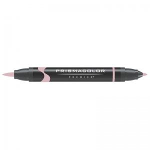 Prismacolor® Premier Brush Marker Pink Light; Color: Red/Pink; Double-Ended: Yes; Ink Type: Alcohol-Based, Dye-Based; Tip Type: Brush Nib, Fine Nib; (model PB280), price per each