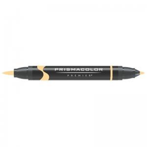 Prismacolor® Premier Brush Marker Yellow Orange Light: Orange, Double-Ended, Alcohol-Based, Dye-Based, Brush Nib, Fine Nib, (model PB215), price per each