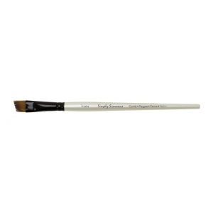 Daler-Rowney Simply Simmons Synthetic Acrylic/Multimedia Brush Angle Comb 1/2: Short Handle, Bristle, Comb, Acrylic, Multimedia, (model SS255058050), price per each