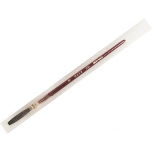 Mack Brown Pencil Quill Series 179L: With Red Lacquered Handle, Size-8