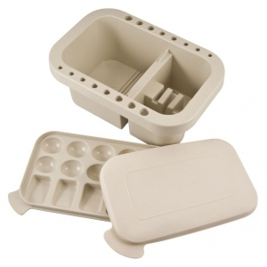 """Heritage Arts™ Plastic Brush Washer; Color: White/Ivory; Material: Plastic; Size: 5 3/4""""l x 8 7/8""""w x 3 3/4""""h; Type: Brush Washer; (model BWX2), price per each"""