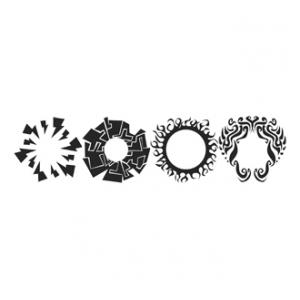 """Paasche ST-9 Tattoo Stencil: 7-3/4"""" X 9"""", Belly Button"""