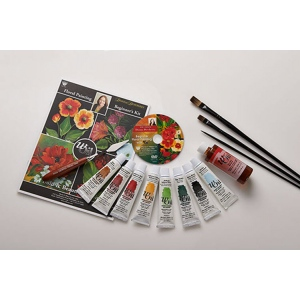 Donna Dewberry Beginner Floral Painting Set With Woil (2 hours)