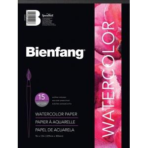 """Bienfang® 9"""" x 12"""" Watercolor Pad: White/Ivory, Pad, 15 Sheets, 9"""" x 12"""", Cold Press, Medium, 140 lb, (model 538H-421), price per 15 Sheets pad"""
