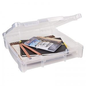 "ArtBin Essentials Box w/grip Area Translucent Clear: 12"" x 12"""