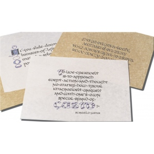"Inovart Calligraphy Parchment Paper Antique Gold 18"" x 24"" - 25 sheets"