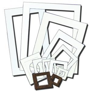"Inovart Picture-It White Pre-Cut Art/Presentation 8"" X 11"" Mat Frames - 12 per pack"