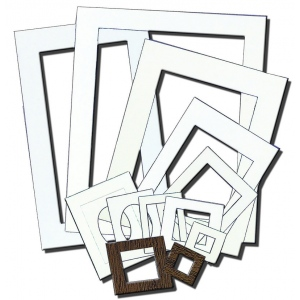 Inovart Mat Frames, 5 by 7-Inch, White, 12-Pack