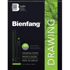 "Bienfang® 11"" x 14"" Raritan Drawing Paper Pad; Color: White/Ivory; Format: Pad; Quantity: 30 Sheets; Size: 11"" x 14""; Texture: Medium; Weight: 70 lb; (model 523WB-230), price per 30 Sheets pad"
