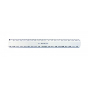 "Alvin® 280 Series Series 280 White Plastic Flat Scales; Color: White/Ivory; Material: Plastic; Size: 12""; Type: Architect; (model 280XP), price per each"