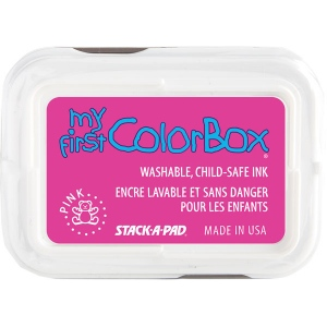 My First ColorBox® Washable Full Size Ink Pad Pink; Color: Red/Pink; Format: Pad; Ink Type: Dye-Based; Shape: Full Size Rectangle; (model CS68005), price per each