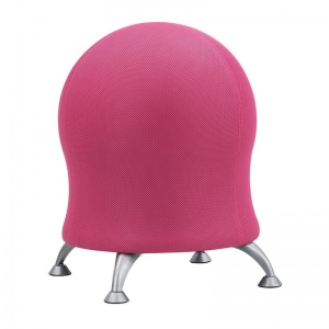 """Zenergy™ Pink Mesh Ball Chair; Arm Rest Included: No; Color: Red/Pink; Foot Ring Included: No; Height Range: Under 24""""; Seat Material: Mesh; (model 4750PI), price per each"""