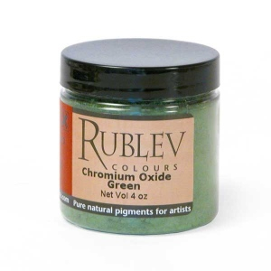 Natural Pigments Chromium Oxide Green 100 g - Color: Green