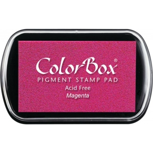 ColorBox® Full Size Ink Pad Magenta; Color: Red/Pink; Format: Pad; Ink Type: Pigment; Shape: Full Size Rectangle; (model CS15015), price per each
