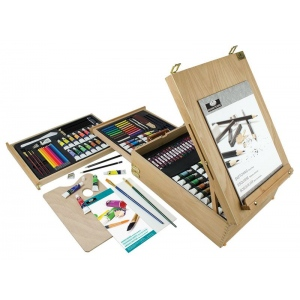 Royal & Langnickel® All Media Easel Artist Set; Color: Multi; Type: Acrylic, Oil, Watercolor; (model REA6150), price per set