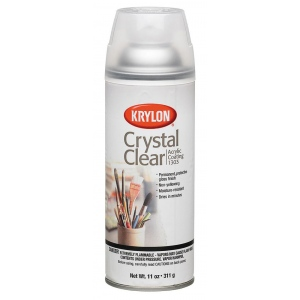 Krylon® Crystal Clear Spray: Gloss, Varnish & Specialty, (model K1303), price per each