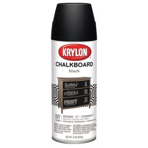 Krylon® Chalkboard Spray Paint Black: Black/Gray, 12 oz, Chalkboard, (model K0807), price per each