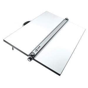 "Alvin® PXB Series Portable Parallel Straightedge Board 18"" x 24"": White/Ivory, 18"" x 24"", Melamine, Drawing Board, (model PXB24), price per each"
