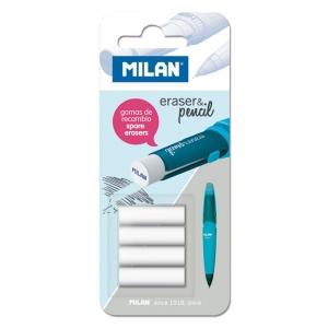 Milan® Mechanical Pencil Eraser Refills (2B): Rubber, 4-Pack, Eraser Refill, (model BTM10299), price per 4-Pack