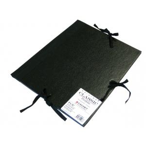 "Cachet® 9"" x 12"" Classic Portfolio: Black/Gray, Fiberboard, Paper, 9"" x 12"", (model CS471300912), price per each"