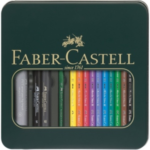 Faber-Castell® Albrecht Durer® 14-Piece Mixed Media Kit; Color: Multi; Lead Size: 3.8mm; Type: Watercolor; (model FC117540), price per set