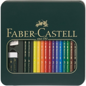 Faber-Castell® POLYCHROMOS® 16-Piece Mixed Media Kit: Multi, 3.8mm, Drawing, (model FC110040), price per set