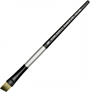 Dynasty® Black Silver® Blended Synthetic Watercolor Brush Angular 1/2; Length: Short Handle; Material: Bristle; Shape: Angular; Type: Watercolor; (model FM32823), price per each