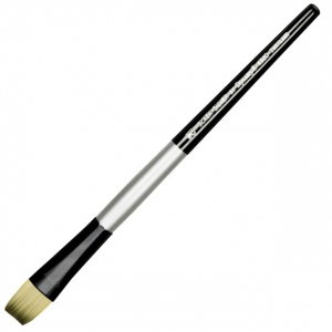 Dynasty® Black Silver® Blended Synthetic Watercolor Brush Bright 12: Short Handle, Bristle, Bright, Watercolor, (model FM32808), price per each