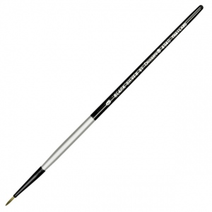 Dynasty® Black Silver® Blended Synthetic Watercolor Brush Liner 0; Length: Short Handle; Material: Bristle; Shape: Liner; Type: Watercolor; (model FM32817), price per each