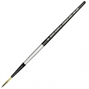 Dynasty® Black Silver® Blended Synthetic Watercolor Brush Long Liner 4: Short Handle, Bristle, Liner, Watercolor, (model FM32820), price per each