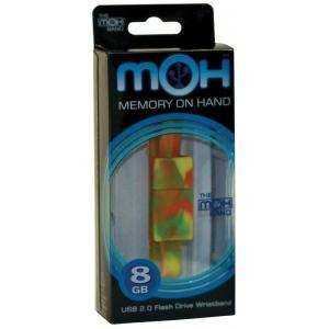 OnHand 8G USB Tie-Dye Wristbands: USB Drive, (model MOH8G-TD), price per each