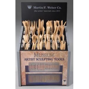 Museum Boxwood Tool Display: Assortment