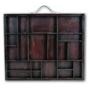 7Gypsies Letterblock Tray: Stained Wood