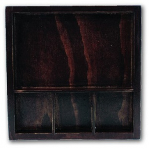 "7Gypsies Solo Tray Stained Wood: 6"" x 6"""