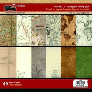 "7Gypsies Gypsy Travels Paper Pack: 6"" x 6"""