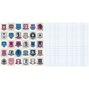 "Teresa Collins Designs Sports Edition II Paper: Shields, 12"" x 12"""