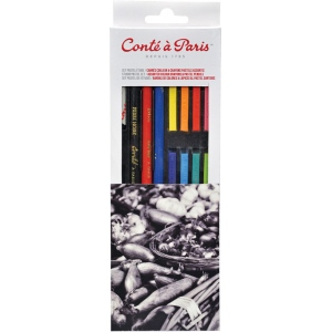 Conte™ Studio Set Pastel Pencils: Multi, 5mm, Pastel, (model C50177), price per set