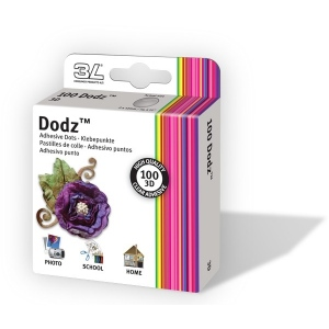 Scrapbook Adhesives by 3L Dodz Adhesive Dots: 3D, Pack of 100