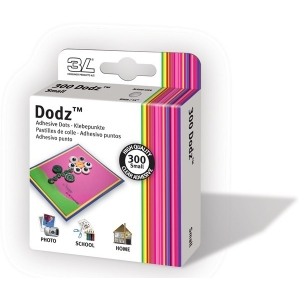 "Scrapbook Adhesives by 3L Dodz Adhesive Dots: Small, 1/4"", Pack of 300"