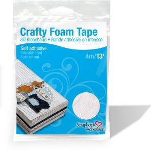 "Scrapbook Adhesives by 3L Foam Tape: White, 3/8"", 13 feet"