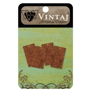Vintaj Artisan Copper Altered Blank: Small Rectangle, 22.5 x 12.5mm