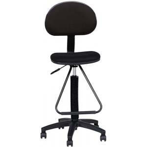"Mayline® Multi-task Drafting Chair with Footrest; Arm Rest Included: No; Color: Black/Gray; Foot Ring Included: Yes; Height Range: 24"" - 29"", 30"" & Up, Under 24""; Seat Material: Fabric; (model 2610), price per each"