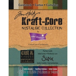 "Core'dinations Tim Holtz Kraft Core/Sizzix Paper Pad Assortment: 4.25"" x 5.5"""