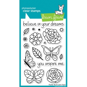 Lawn Fawn Flutter By Stamp Set