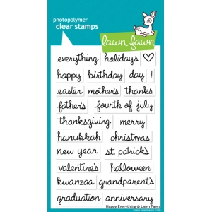 Lawn Fawn Happy Everything Stamp Set