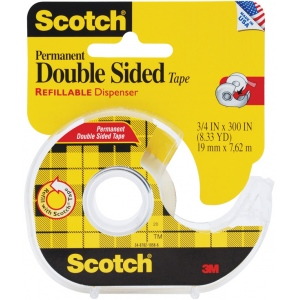 "Scotch® Double-Stick Tape 300""; Format: Roll; Size: 3/4"" x 300""; Type: Double-Sided; Width: 3/4""; (model 237), price per each"