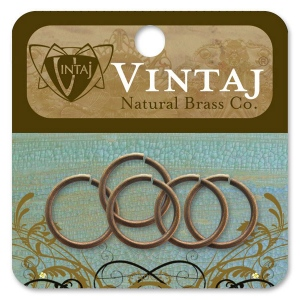 Vintaj Findings Jump Rings: 15mm