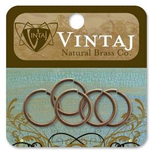 Vintaj Findings Jump Rings: 15mm