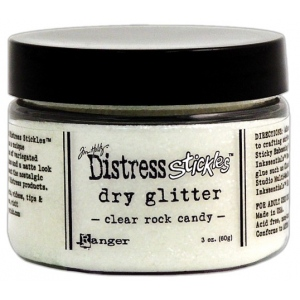Ranger Tim Holtz Distress Stickles Dry Glitter: Clear Rock Candy, 3 Ounces